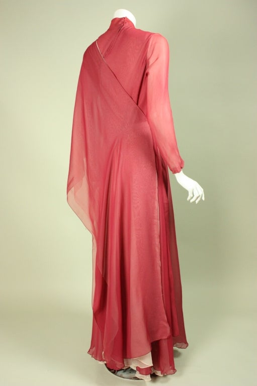 Stavropoulos Silk Evening Gown 4