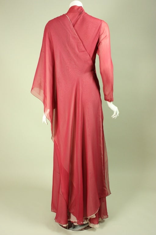Stavropoulos Silk Evening Gown 5