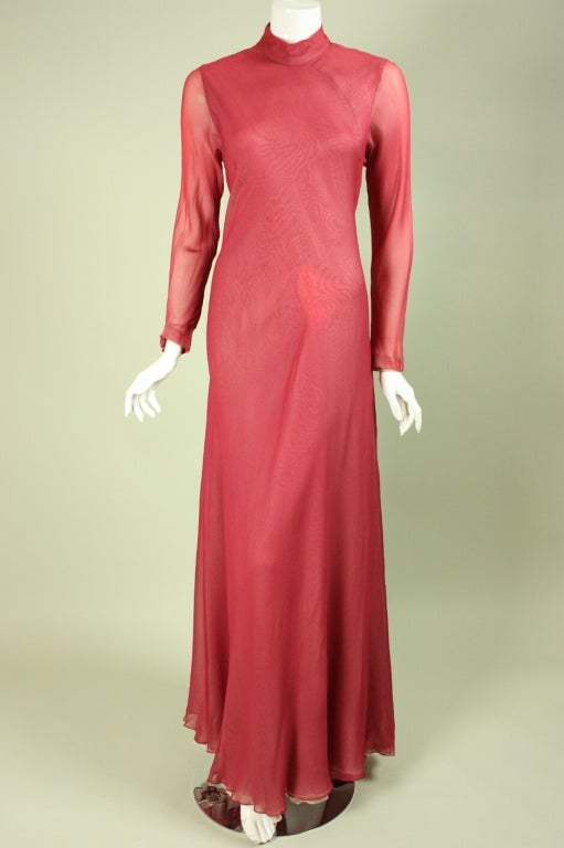Stavropoulos Silk Evening Gown 8