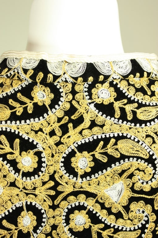 1960's Moroccan Embroidered Caftan 7