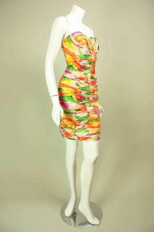 Women's Vicky Tiel Floral Dress and Coat Ensemble For Sale