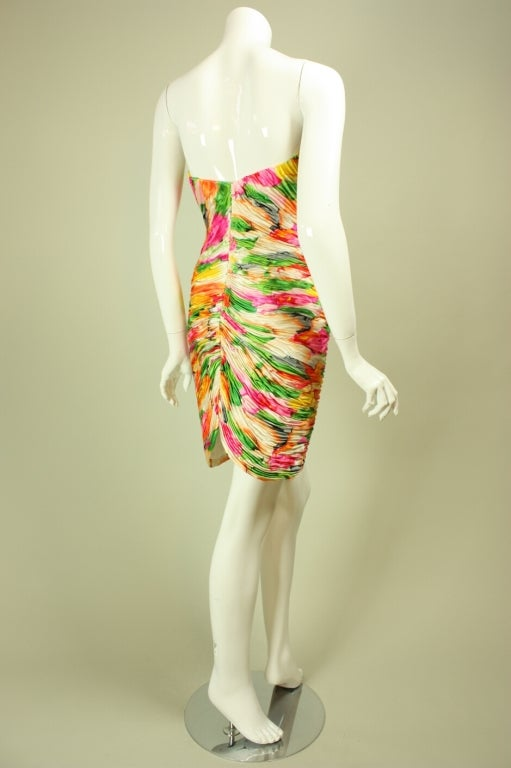 Vicky Tiel Floral Dress and Coat Ensemble For Sale 1