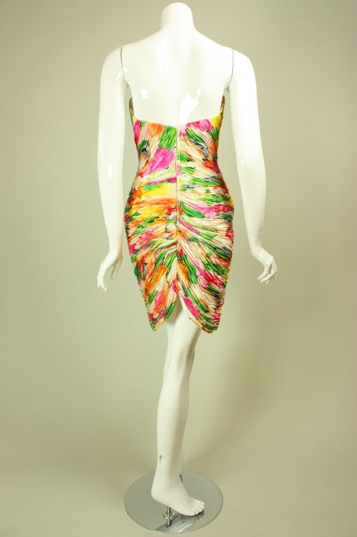 Vicky Tiel Floral Dress and Coat Ensemble For Sale 2