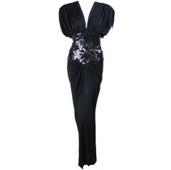 1980's Marc Bouwer Draped Gown