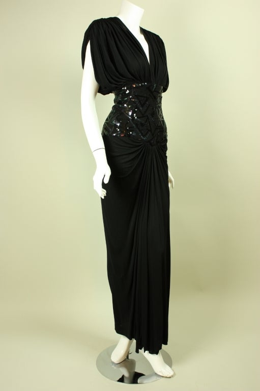 1980's Marc Bouwer Draped Gown 2