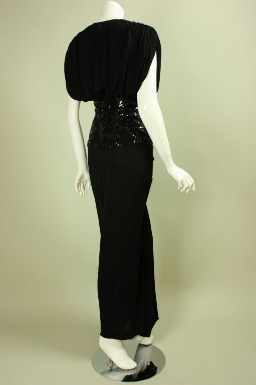 1980's Marc Bouwer Draped Gown 3