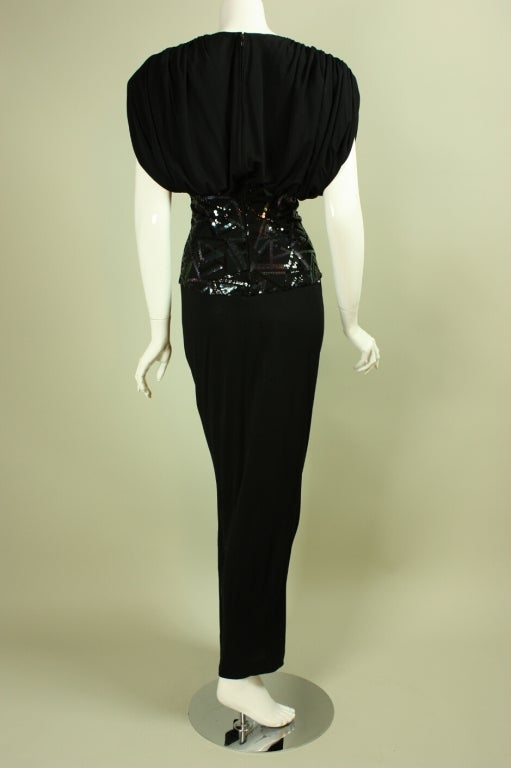 1980's Marc Bouwer Draped Gown 4
