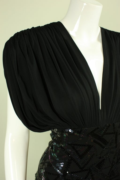 1980's Marc Bouwer Draped Gown 5