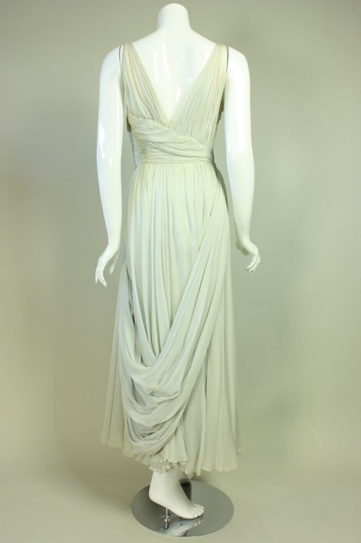 1950's Sara Fredericks Silk Chiffon Gown 4