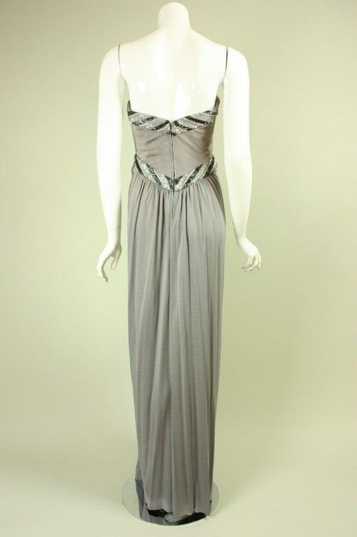 Bob Mackie Gray Jersey Gown 5