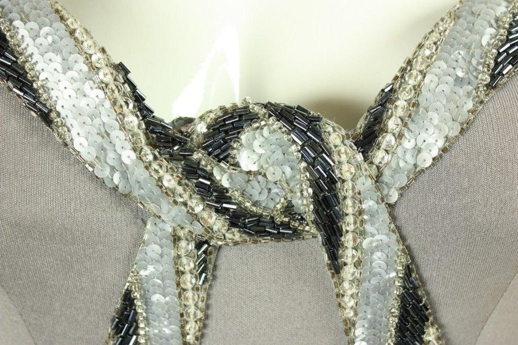 Bob Mackie Gray Jersey Gown 7
