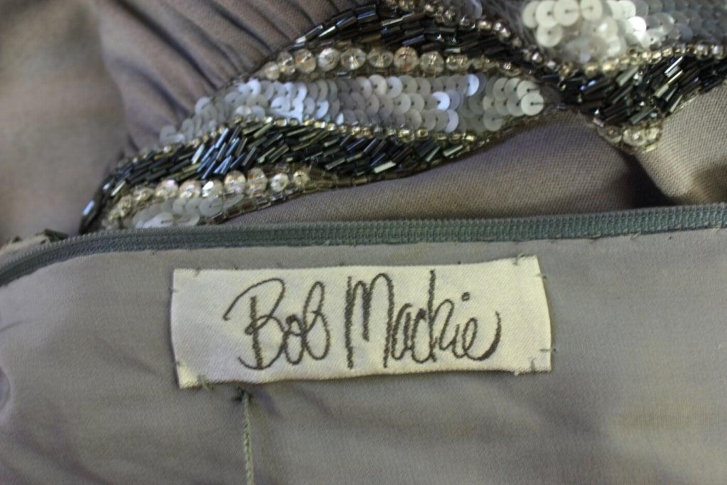Bob Mackie Gray Jersey Gown 8