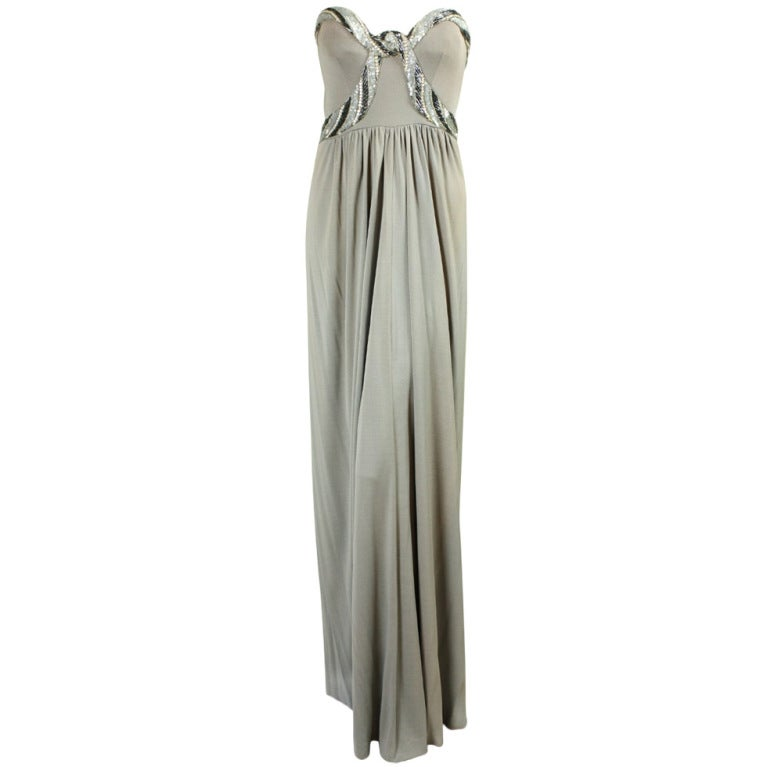 Bob Mackie Gray Jersey Gown