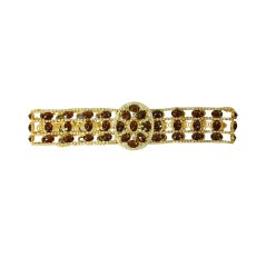 Kenneth J. Lane Bejeweled Filigree Belt