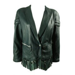 Claude Montana Fringed Leather Jacket