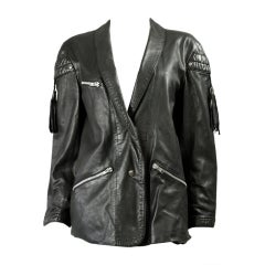 Claude Montana Black Leather Jacket