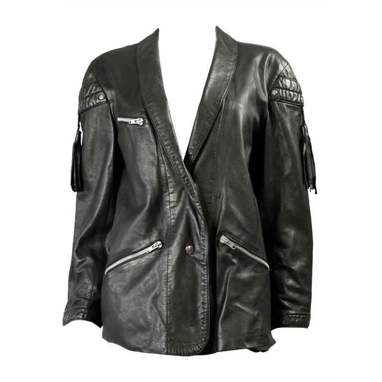Claude Montana Black Leather Jacket