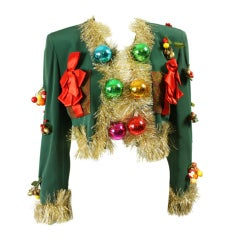 1990's Moschino Couture Christmas Tree Jacket