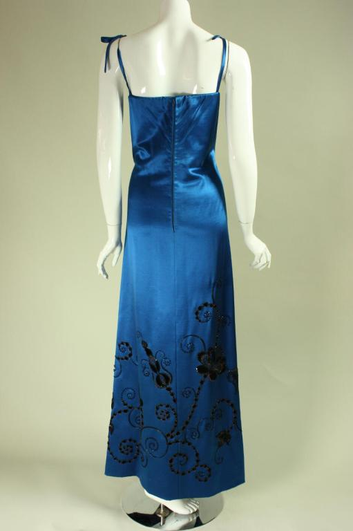 Christian dior 1982 haute couture satin gown at 1stdibs for Dior couture dress price