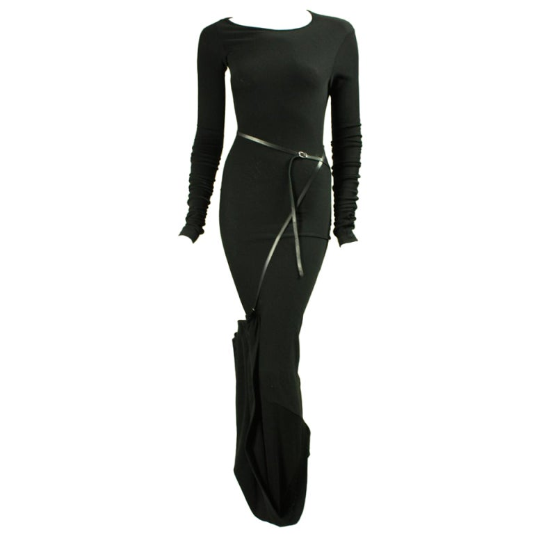 Jean-Paul Gaultier Bias Cut Gown with Gathered Hem For Sale