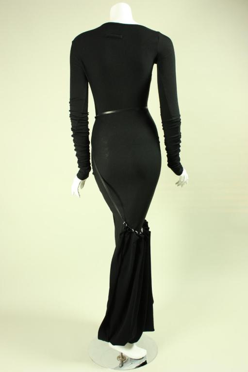 Jean-Paul Gaultier Bias Cut Gown with Gathered Hem In Excellent Condition For Sale In Los Angeles, CA