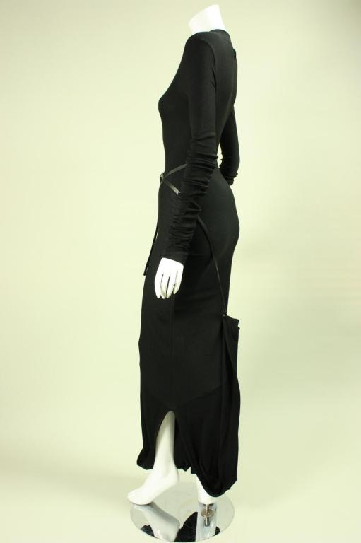 Women's Jean-Paul Gaultier Bias Cut Gown with Gathered Hem For Sale