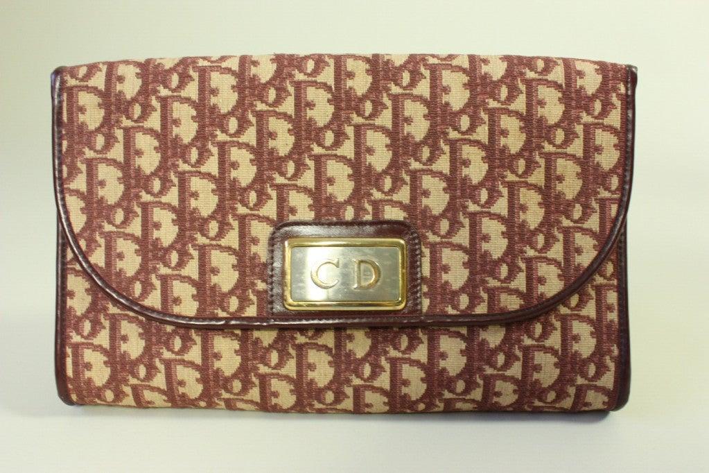 1970's Christian Dior Monogram Handbag & Change Purse 2
