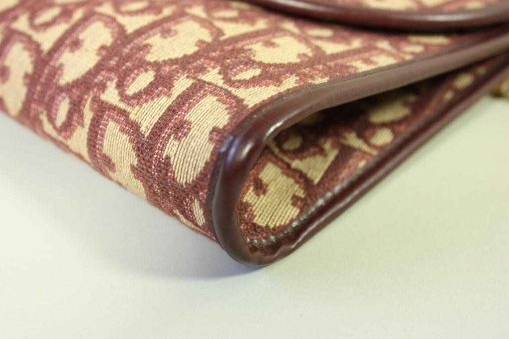 1970's Christian Dior Monogram Handbag & Change Purse 4