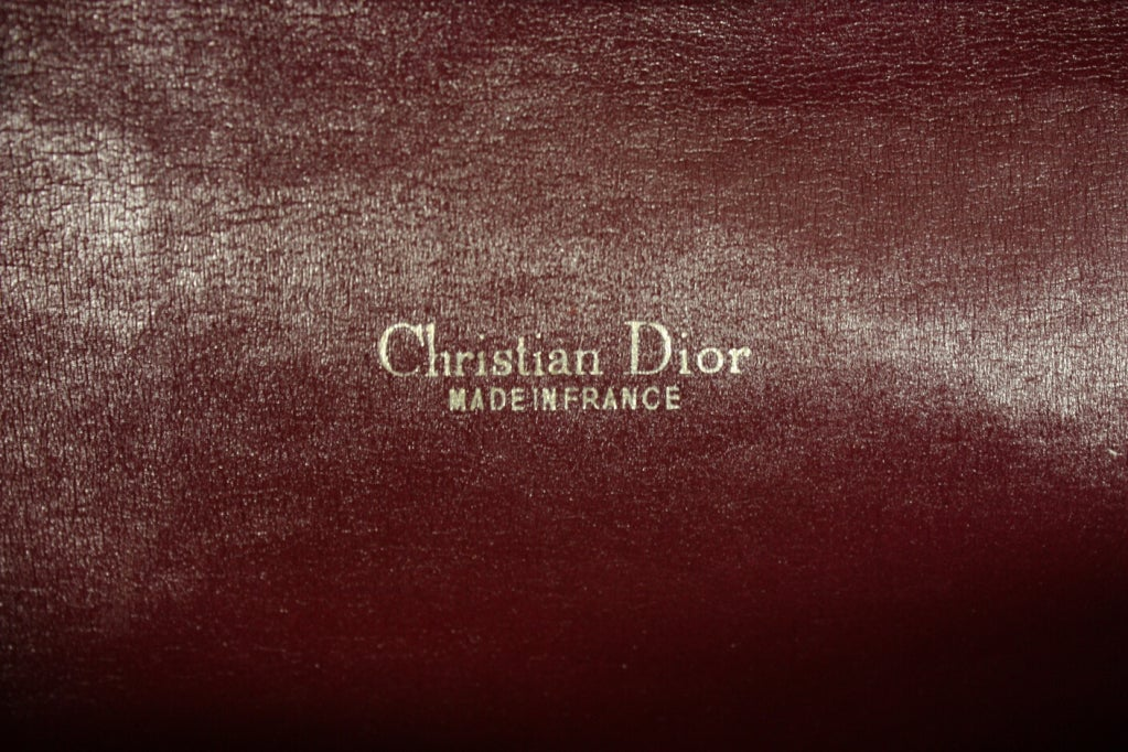 1970's Christian Dior Monogram Handbag & Change Purse For Sale 2