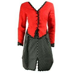 Geoffrey Beene Cotton Pique Skirt Suit