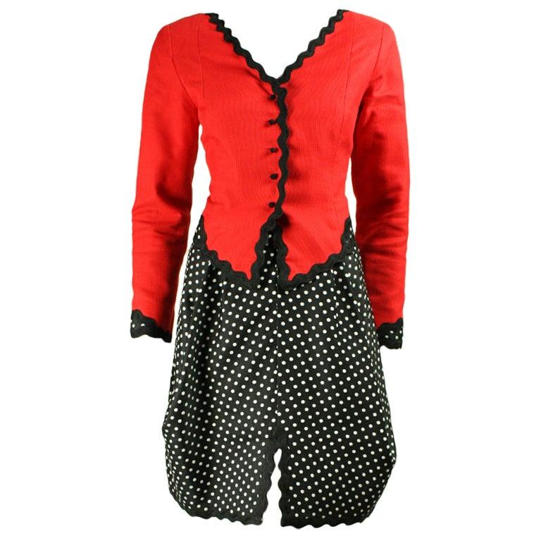 Geoffrey Beene Cotton Pique Skirt Suit