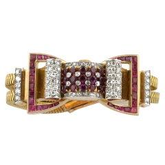 Ruby Diamond Bow Watch