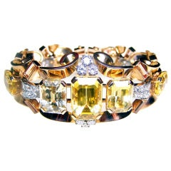 Topaz Yellow Sapphire Bracelet