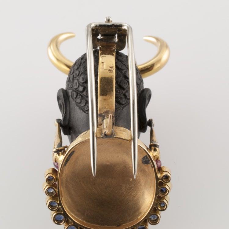 Blackmoor Clip Brooch In Excellent Condition For Sale In Los Angeles, CA