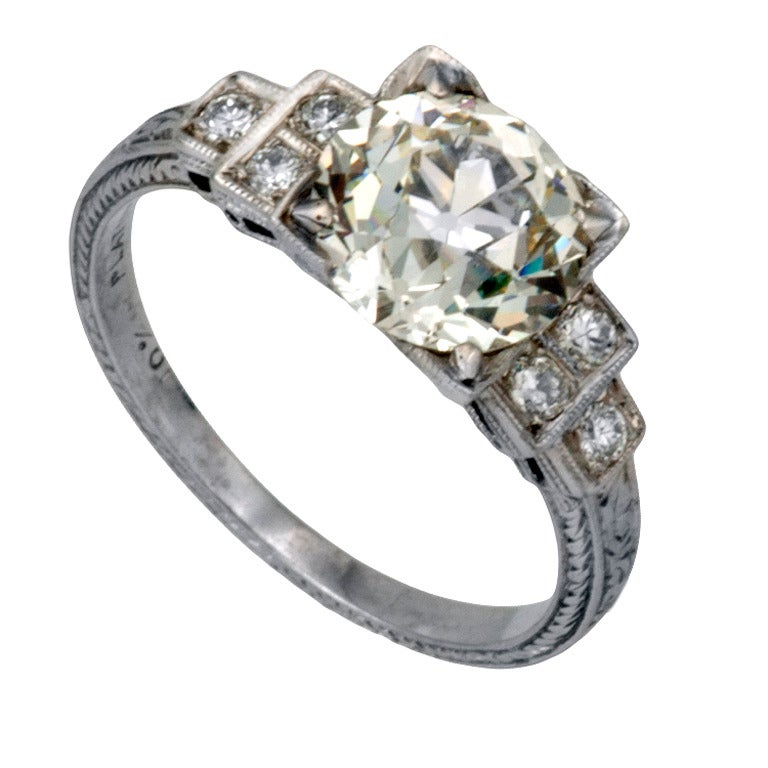 blue diamond wedding ring 2 01 carats deco engagement ring circa 1925 at 1925