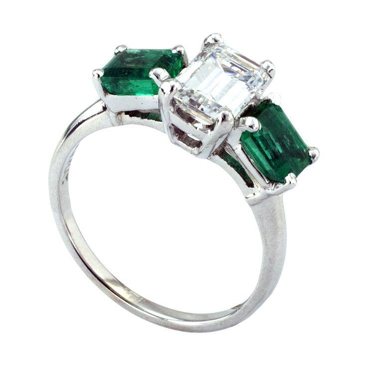 beautiful emerald cut and emerald ring at 1stdibs