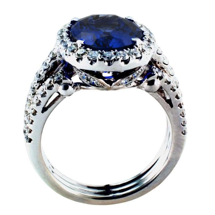 Impressive Tanzanite & Diamond Ring 6