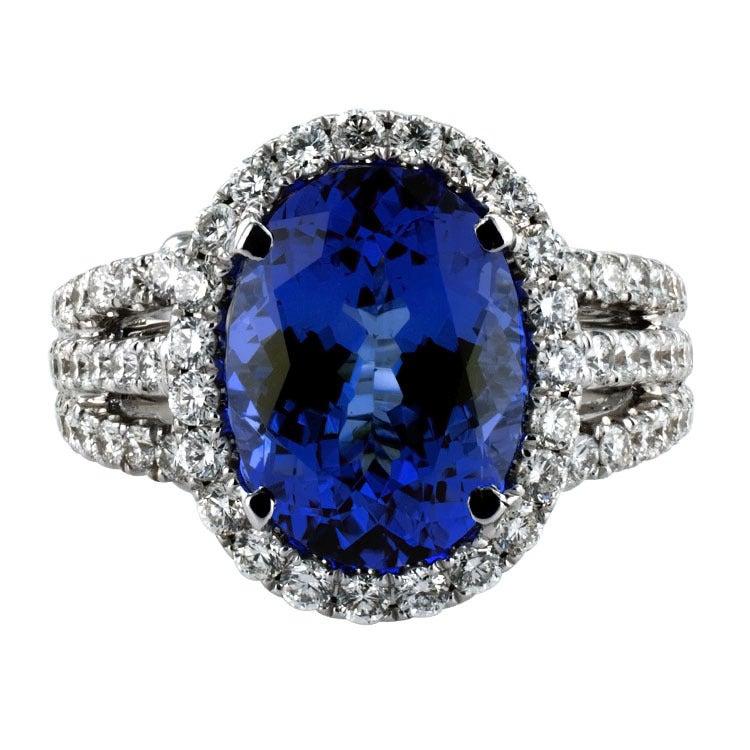 Impressive Tanzanite & Diamond Ring 7