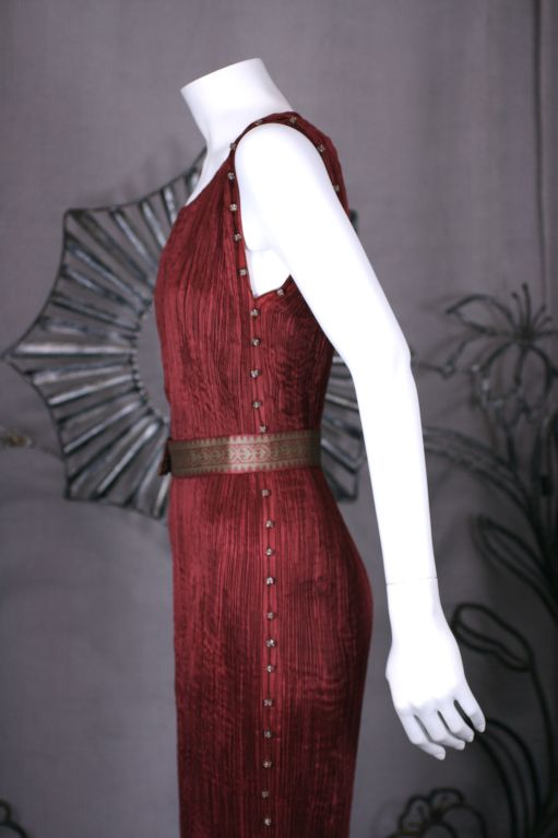 Brown Mariano Fortuny Claret Delphos. Provenance Tina Chow For Sale