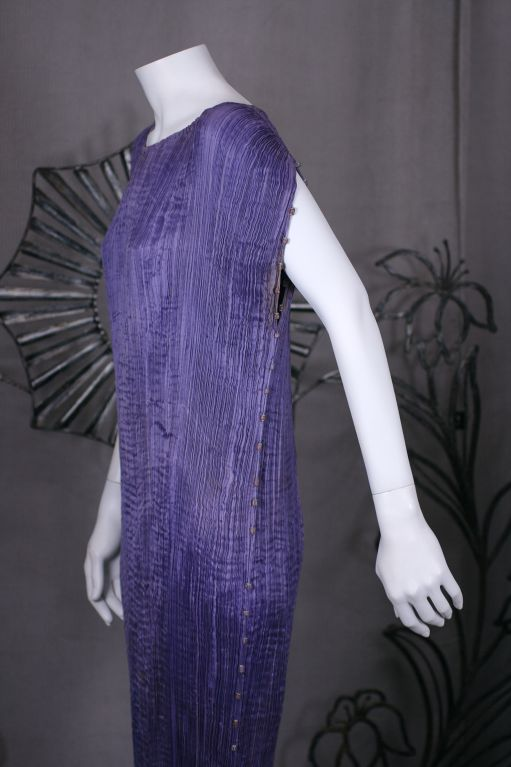 Purple Mariano Fortuny  Amethyst  Delphos Gown For Sale