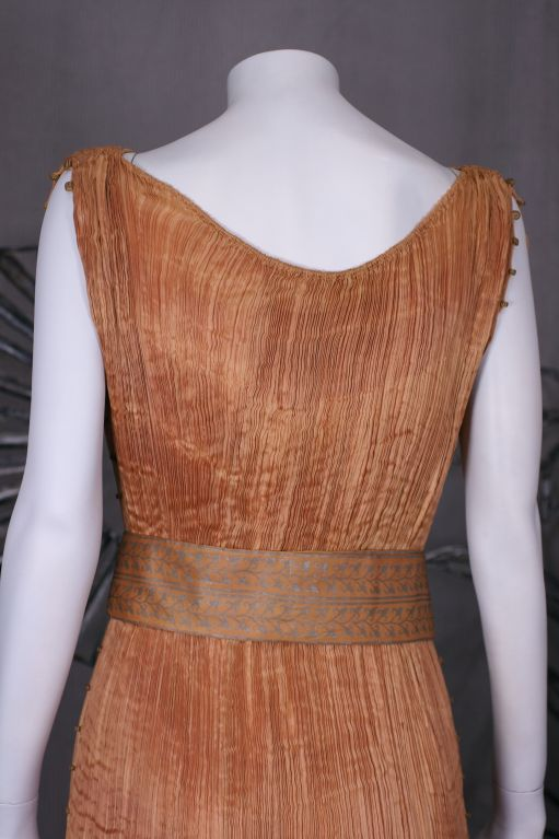 Mariano Fortuny Apricot  Delphos Gown For Sale 1