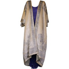 Fortuny Banana Stencilled Velvet Coat, Provenance Tina Chow