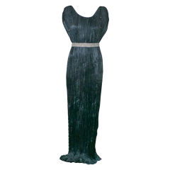 Mariano Fortuny Black  Delphos Gown