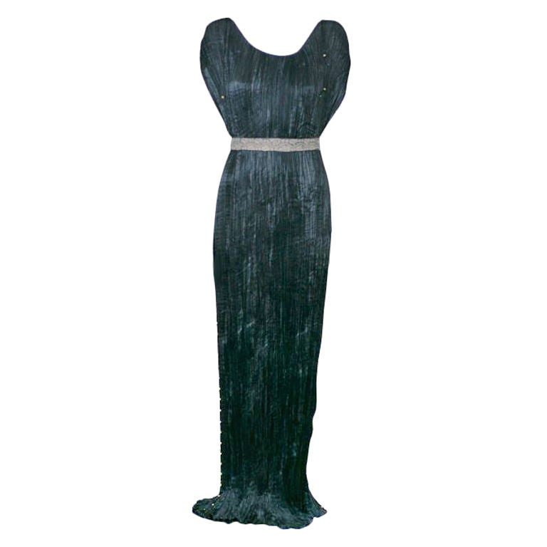 Mariano Fortuny Black  Delphos Gown For Sale