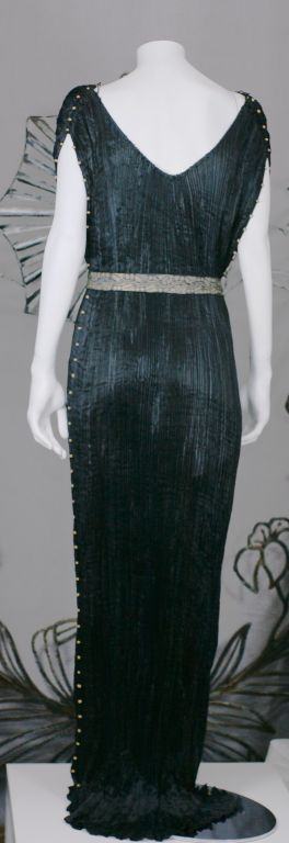Women's Mariano Fortuny Black  Delphos Gown For Sale
