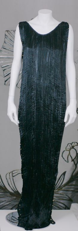 Mariano Fortuny Black  Delphos Gown For Sale 1