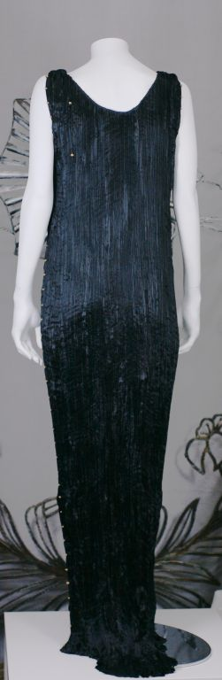 Mariano Fortuny Black  Delphos Gown For Sale 2