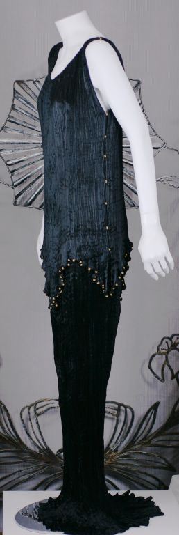 Mariano Fortuny Black Peplos Gown 3