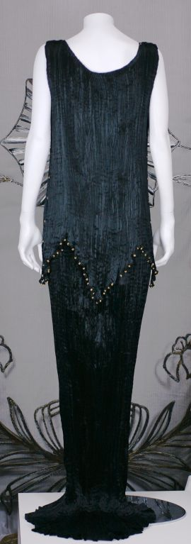 Mariano Fortuny Black Peplos Gown 4