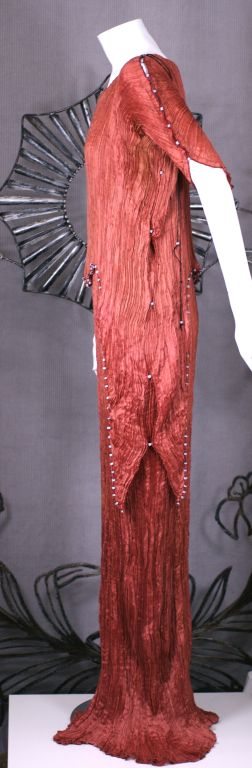 Women's Mariano  Fortuny Sienna Peplos Gown For Sale